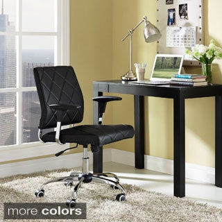 Lattice Diamond-tufted Vinyl Office Chair