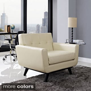 Modern Leather Upholstered Armchair