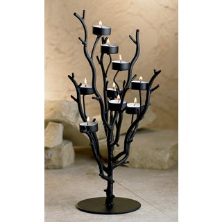 20-inch Tall Iron 9-candle Tealight Tree
