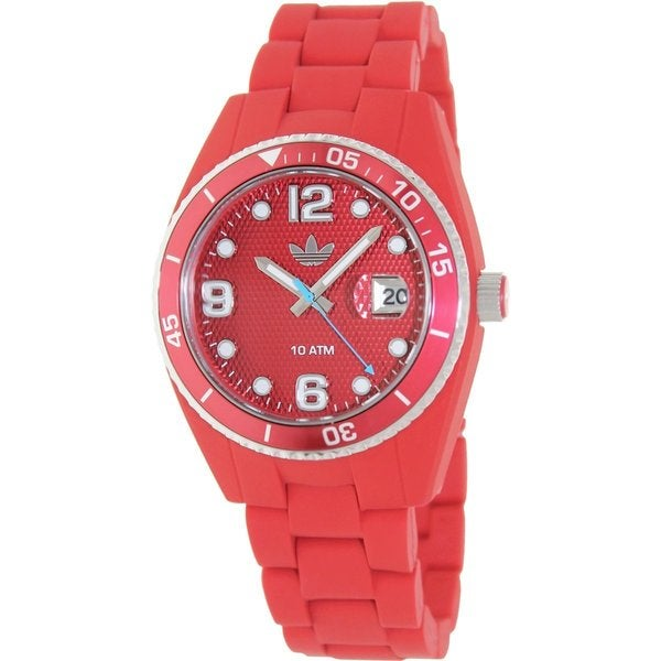 Adidas Women's Brisbane ADH6160 Red Silicone Quartz Watch with Red Dial