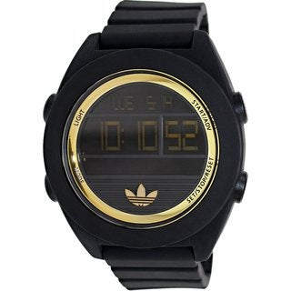 Adidas Men's Santiago ADH2911 Black Silicone Analog Quartz Watch with Digital Dial