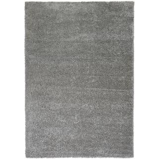 Plain Solid Shag Grey Well-woven Area Rug (6'7 x 9'10)