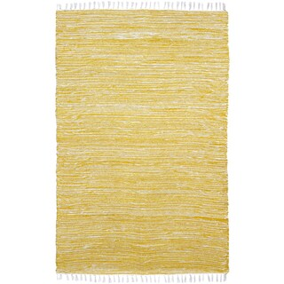 Yellow Reversible Chenille Flat Weave Area Rug (9' x 12')