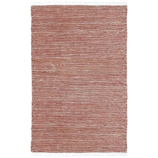 Copper Reversible Chenille Flat Weave Area Rug (9' x 12')