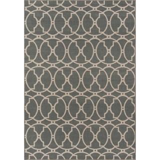 Indoor/ Outdoor Moroccan Tile Grey Rug (8'6 x 13')