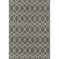 Indoor/ Outdoor Grey Tile Rug (8'6 x 13')