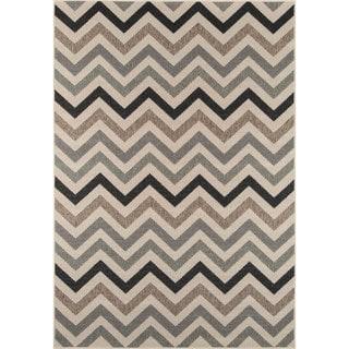 Indoor/ Outdoor Sage Chevron Rug (8'6 x 13')