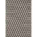 Indoor/ Outdoor Grey Trellis Rug (2'3 x 4'6)