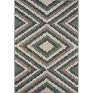 Indoor/ Outdoor Sage Zig-Zag Rug (8'6 x 13')