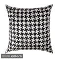 Cassius Houndstooth 20-inch Feather and Down Filled Throw Pillows (Set of 2)