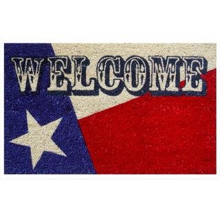 Texas Flag Non-slip Welcome Doormat