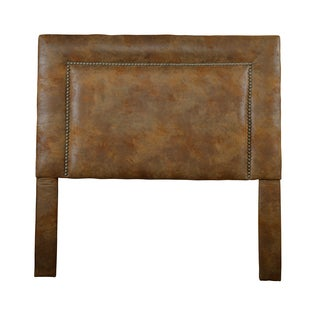 Christopher Knight Home St Kitts Queen/Full-size Brown Upholstered Nailhead Trim Square Headboard