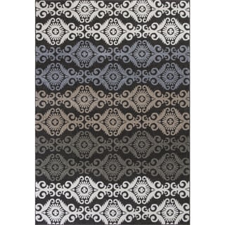Georgian Divine Damask Charcoal Area Rug (7'10 x 10'10)