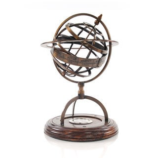 Brass Armillery and Compass Decorative Accessory