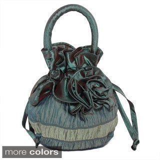 Small Drawstring Shimmering Evening Handbag (China)