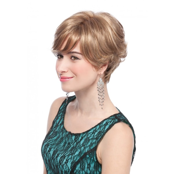 Morena-Mono Short Length Top Wig (Frosted and Regular Blend)