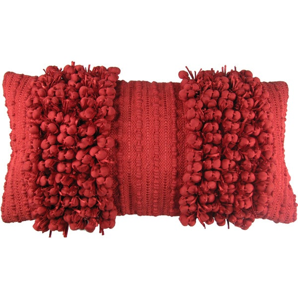 Funberry Red Down Filled Throw Pillow