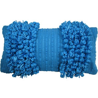 Funberry Blue Down Filled Throw Pillow