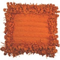 Funberry Orange 18-inch Down Filled Throw Pillow