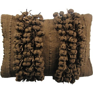 Funberry Brown Down Filled Throw Pillow
