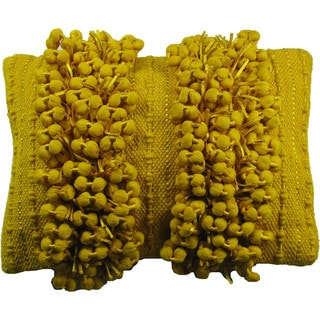 Funberry Yellow Down Filled Throw Pillow