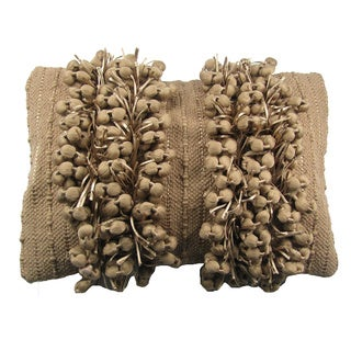 Funberry Tan Down Filled Throw Pillow