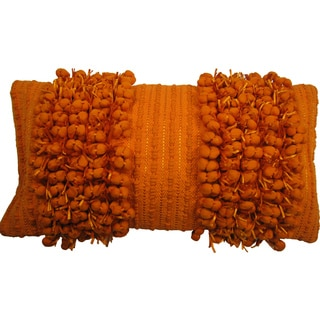 Funberry Orange Down Filled Throw Pillow