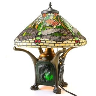 Tiffany Style Grandeur Dragonfly Table Lamp