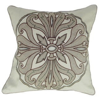 Anai Emperor Decorative White 22-in Down Filled Throw Pillow