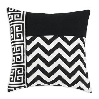 Black and White 17-inch Striped Throw Pillow