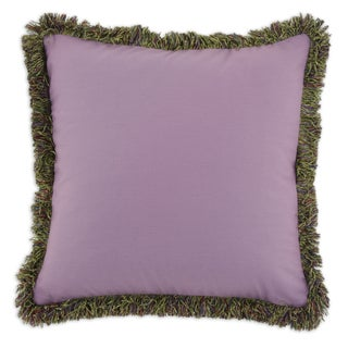 Olive Fringed Pebbletex Heather Moon 17-inch Throw Pillow