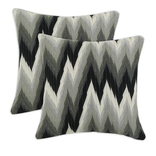 Coram Ebony 17-inch Throw Pillow (Set of 2)