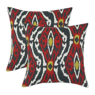 Sherpa Timberwold Ikat 17-inch Throw Pillow (Set of 2)