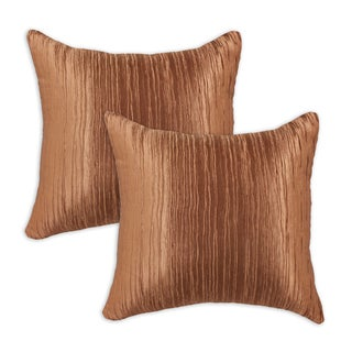 Romance Bronze Self Backed 17-inch Throw Pillows (Set of 2)