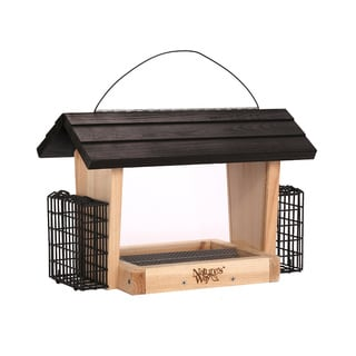 Nature's Way Cedar 6-quart Hopper Feeder