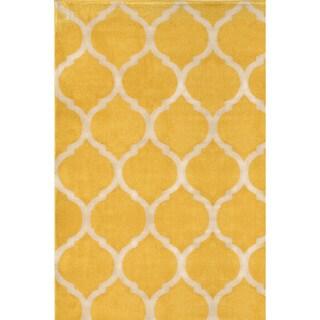 Antique Transitional Yellow Cream Area Rug (5'3 x 7'7)