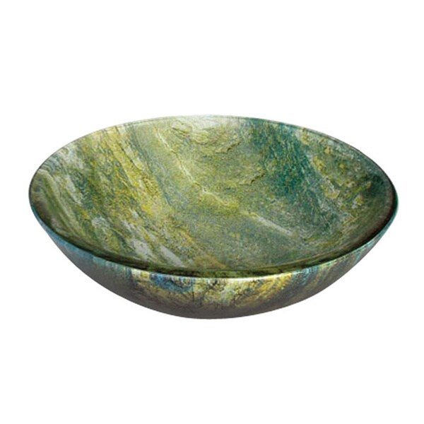 Ocean Green Round Glass Basin
