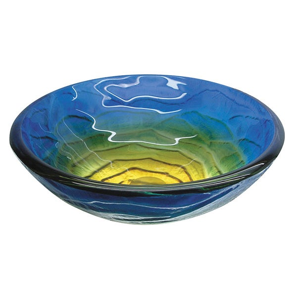 Yosemite Home DecRetro Blues Round Glass Basin