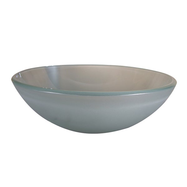 Frosted Round Glass Basin