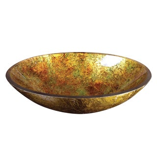 Yosemite Home Decor Sunrise Oval Glass Basin