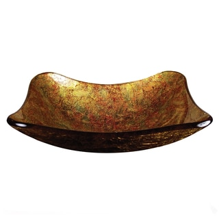 Metallic Gold Glass Basin