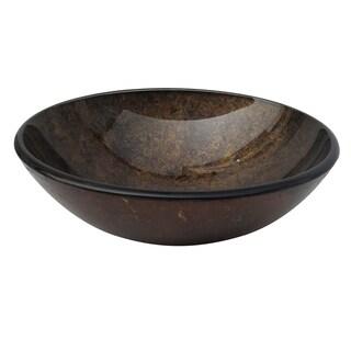 Copper Round Glass Basin