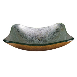 Teal Square Glass Basin
