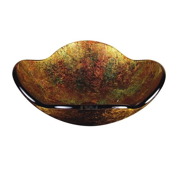 Gold Flower Glass Basin