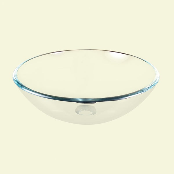 Clear Round Glass Basin