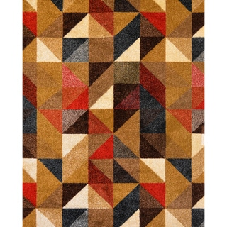 Antique Transitional Multicolored Area Rug (7'10 x 10'10)