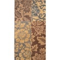 Antique Transitional Brown Blue Area Rug (5'3 x 7'7)