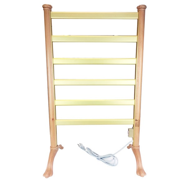 Wood Frame Freestanding Towel Warmer Drying Rack
