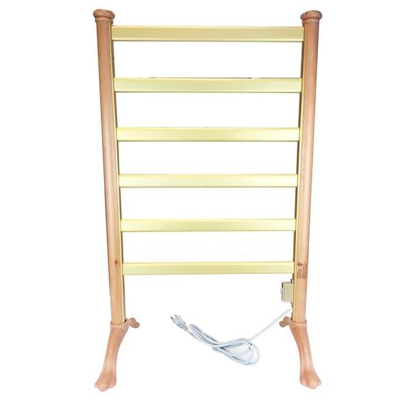Wood Frame Freestanding Towel Warmer Drying Rack