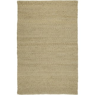 LNR Home Natural Fiber Dockside Natural Rectangle Plush Indoor Area Rug (7'9 x 9'9)